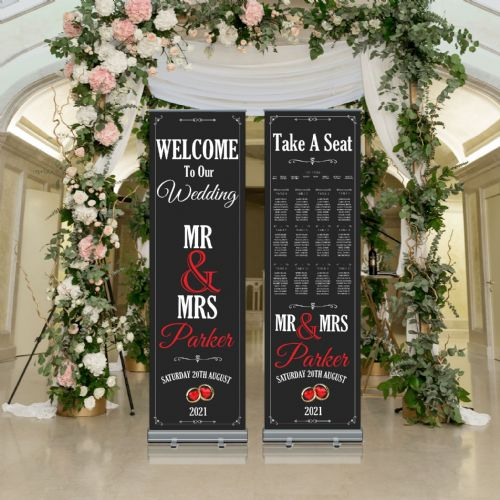 Wedding Roller Banner N2 - Welcome to our Wedding / Table Seating Plan